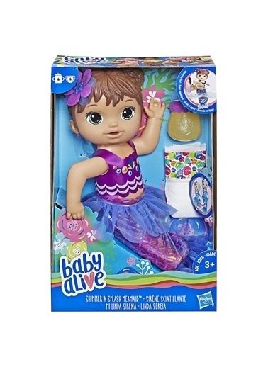 Hasbro Baby Alive Deniz Kızı Bebeğim - Kumral Renkli